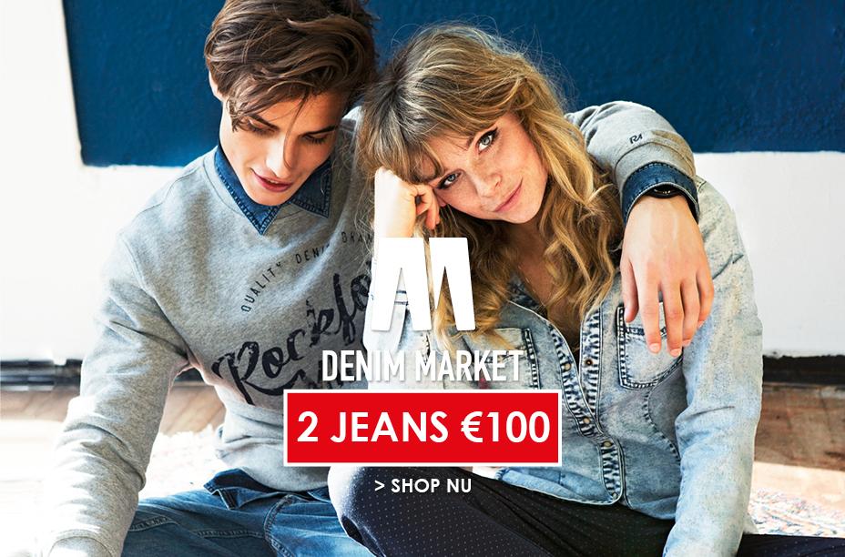 Denim Market: 2 jeans voor €100