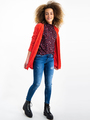 garcia panterprint blouse i92432 rood