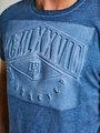 garcia T-shirt met opdruk PG910201 blauw
