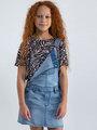 garcia t-shirt met allover print N02607 wit