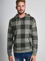 chief geruite hoodie pc910715 groen