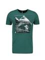 chief t-shirt met fotoprint groen pc010401