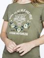 garcia t-shirt met opdruk pg000101 groen