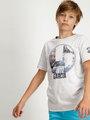 Garcia T-Shirt Met Opdruk D93601 Wit