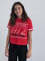 garcia t-shirt met tekstopdruk n02604 rood