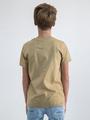 garcia t-shirt met opdruk n03601 beige
