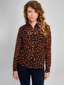 garcia blouse met allover print j90239 blauw