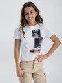garcia t-shirt met opdruk m02402 wit