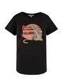 garcia t-shirt met print n00203 zwart