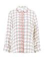 garcia blouse geruit h90232 wit