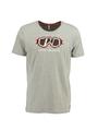 chief t-shirt met opdruk pc910710 grijs