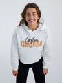 garcia hoodie met opdruk n02662 wit