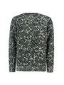 garcia sweater met allover print J93669 groen