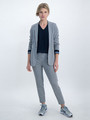 garcia blouse met v-hals o00033 donkerblauw
