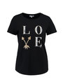 yezz t-shirt met tekst py900802 zwart