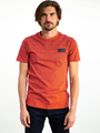 garcia t-shirt met allover print I91004 oranje