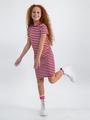 garcia jurk met strepen n02684 rood