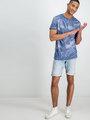 garcia t-shirt met allover print e91007 blauw