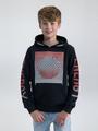 garcia hoodie met opdruk n03664 zwart