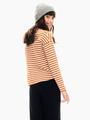 garcia t-shirt gestreept bruin t02605