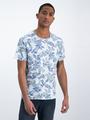 garcia t-shirt met allover print o01006 blauw