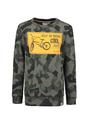 garcia sweater met allover print o05662 groen