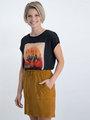 garcia t-shirt met satijnen voorkant n00206 zwart