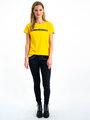 garcia t-shirt met tekst i90007 geel