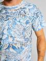 dedicated t-shirt met allover design blauw