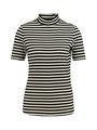 yezz gestreept t-shirt met turtleneck py900803 zwart-wit