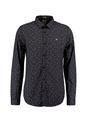 garcia overhemd met allover print I91034 zwart