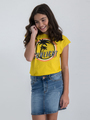 garcia t-shirt met opdruk o02401 geel
