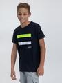 garcia t-shirt met opdruk o03408 blauw