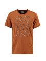garcia t-shirt met opdruk l91003 oranje-bruin