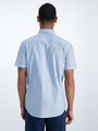 garcia overhemd met korte mouwen o01035 donkerblauw