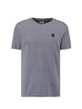 garcia t-shirt gestreept blauw t01028