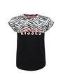 cars t-shirt met zebraprint celia zwart