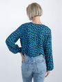 garcia blouse met allover print o00031 donkerblauw