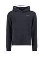 garcia hoodie met allover print j92662 blauw