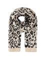 garcia panterprint sjaal I90136 beige