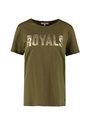 garcia t-shirt met tekstprint m00002 groen