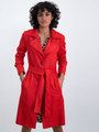 garcia suedine trenchcoat gj000205 rood