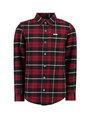 garcia geruit overhemd i93430 rood