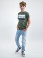 garcia t-shirt met opdruk o03400 groen