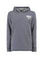 garcia gestreepte hoodie g93407 blauw