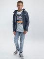 garcia t-shirt met opdruk m03403 wit