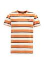 garcia t-shirt met allover print m03408 oranje-wit