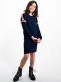 garcia jurk met sportieve strepen i92481 blauw
