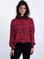 garcia blouse met panterprint l90030 roze-rood