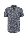 garcia overhemd met allover print o01037 blauw